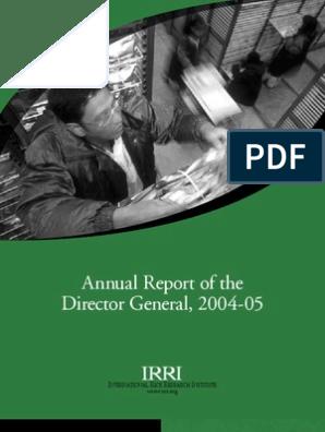 IRRI Annual Report 2004-2005 | International Rice Research