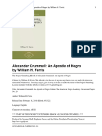 Alexander Crummell - An Apostle of Negro Culture by William H. Ferris