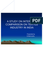 A Study on Interfirm Comparison on Textile Industry