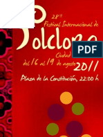 Programa Festival Folclore 2011