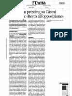 Il Pdl va-in pressing su Casini. La replica:« Resto all'opposizione»-Susanna-Turco-LUnità