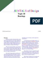 Fundamentals of Bearings