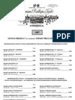Price List 2007