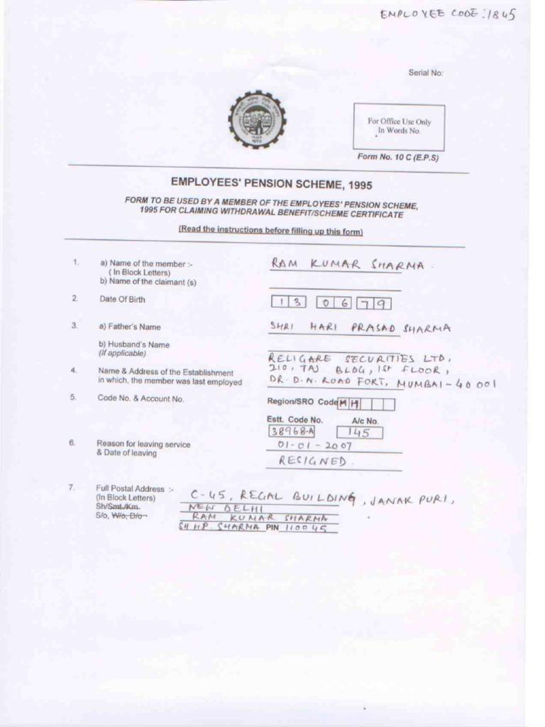 sample filled form 10c pdf