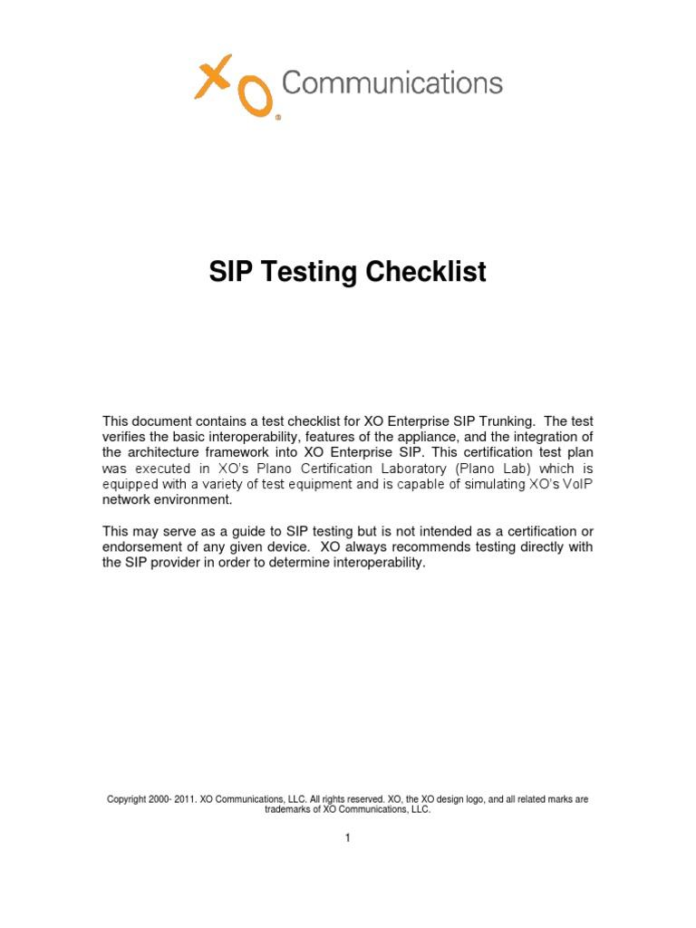 Sip Test