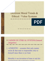 Moral Trends & Ethical Systems Edited
