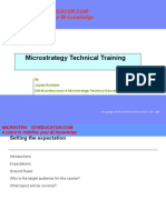 Micro Strategy Technical Training