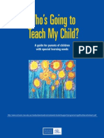 Who's Going to Teach my child?