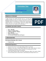 Curriculum Vitae Sample