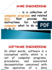 Software Engineering Lecture 1