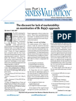 The Discount for Lack of Marketability an Examination of Dr. Bajajs Approach