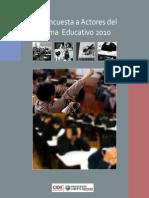 ENCUESTA ACTORES EDUCACIÓN 2011 CIDE