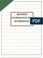 Regimen Patrimonial Del Matrimonio