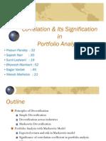 Co-Relation & Its Signification in Portfolio Analysis - Prasun & Group