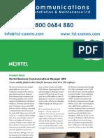 Nortel Bcm450 Brochure
