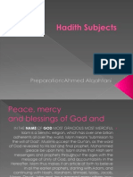 Hadith Subjects