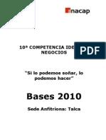 Bases Ideas de Negocios 2010