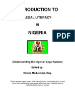 47973630 Introduction to Legal Literacy in Nigeria