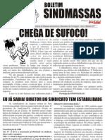 Panfleto SindMassas - Agosto de 2011