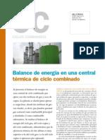 Balance Central Termica Ciclo Combinado