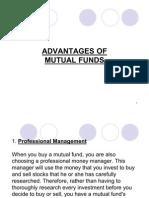 Adv. & Dis of Mutual Funds