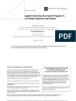 The Children's Supplemental Security Income Program