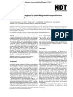 Thrombotic microangiopathy mimicking membranoproliferative  glomerulonephritis