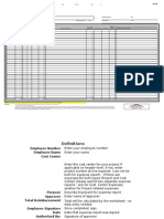 Personal Expense Oracle Expense Report Template - Master