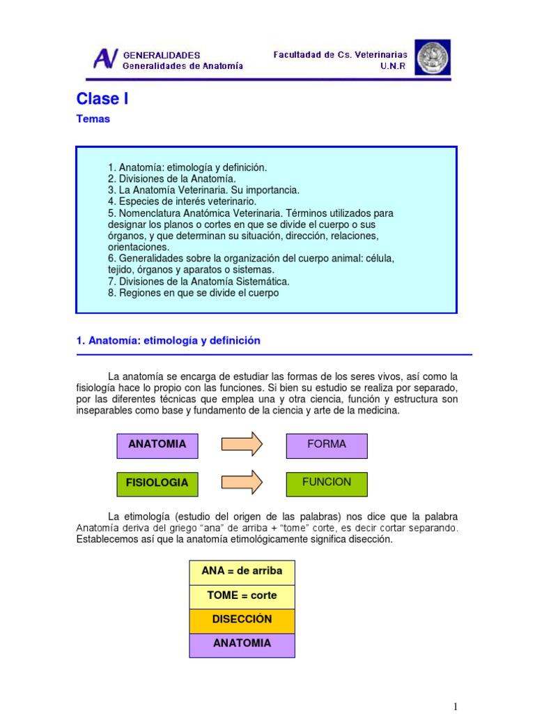 1_Generalides de Anatomia