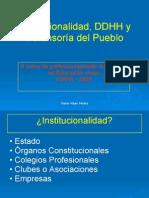 Institucionalidad Derechos Humanos y Defensor%C3%ADa Del Pueblo