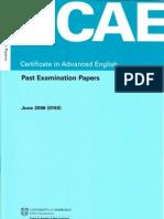 CAE June 2006 Past Paper