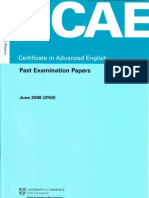 CAE June 2006 Past Paper