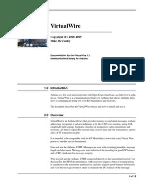Virtual Wire | Arduino | Electronics