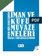 İman ve Kufur Muvazeneleri- Risale-i Nur Külliyatı - Ebook Reader için Pdf 800x600
