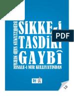 Sikke-i Tasdiki Gaybi - Risale-i Nur Külliyatı - Ebook Reader için Pdf 800x600
