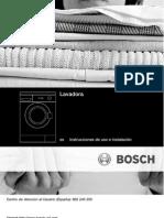 Manual Lavadora BOSCH