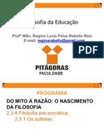 1ºP_PROF_REGINA_AULA_1_ Pré Socráticos e Sofistas