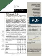20100812 Bolsa y Renta - Informe Iniciacion Biomax