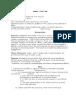 Sample Speech Outline