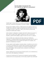 Muerte Jim Morrison
