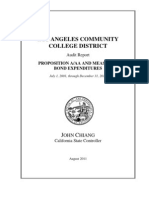 California State Controller's Audit of Los Angeles Community College District Prop A, AA & Measure J Bond Expenditures