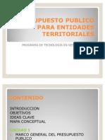 Presupuesto Publico Para Entidades Territoriales