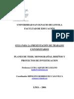Guia para la Presentacion Trabajos Universitarios