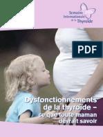 Brochure Thyroide Et Grossesse
