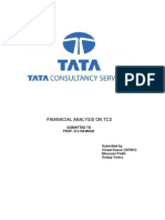 Financial Analysis on Tcs