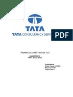 Financial Analysis on Tcs