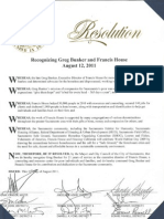 Francis House City Hall Resolution