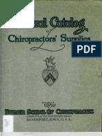 Chiro Supply Catalog PSC 1922