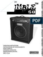 Fender Rumble Bass Amps Manual