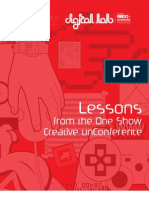 Lessons from the One Show Creative Unconference